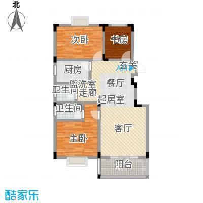 麓山里佳园2室2厅2卫 106.00㎡户型2室2厅2卫