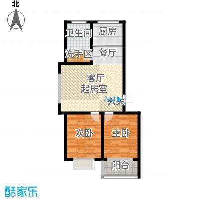 银枫家园87.00㎡两室两厅一卫户型2室2厅1卫
