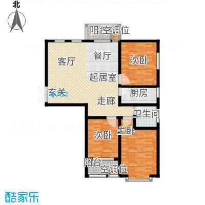 左岸枫桥三室两厅一卫 121.8平米户型