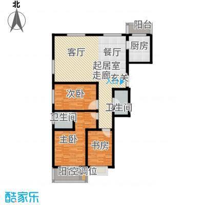 左岸枫桥三室二厅二卫 145.7平米户型