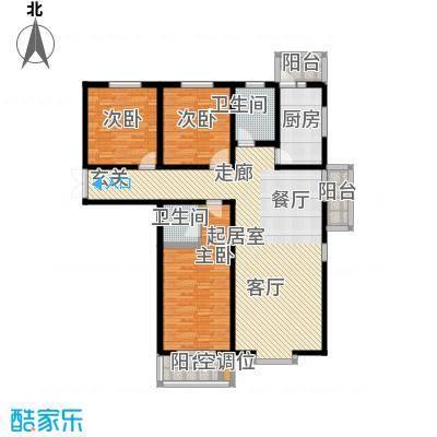 左岸枫桥三室两厅两卫 162平米户型