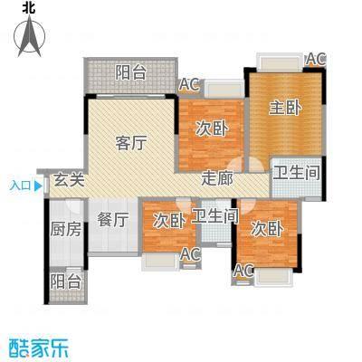 美堤雅城(三期)琴湾美堤雅城琴湾户型4室1厅2卫1厨
