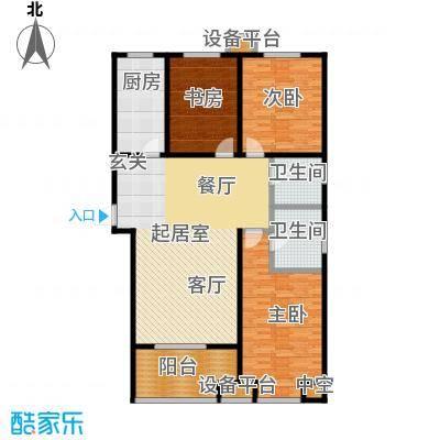 嘉华国际户型3室2卫1厨