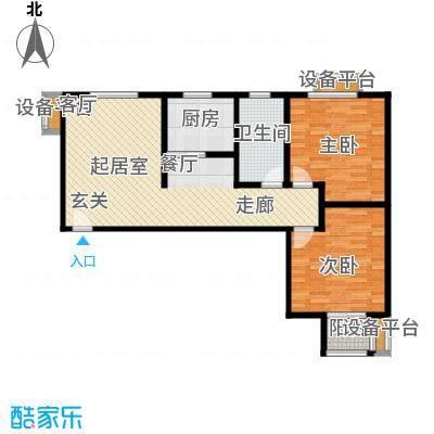 幸福馨苑户型2室1卫1厨