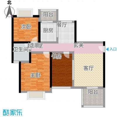 加新花园(一期)101.41㎡房型: 三房; 面积段: 101.41 -115.73 平方米;户型