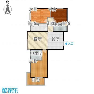 颐景蓝湾三室两厅两卫 119.38平方米户型3室2厅2卫