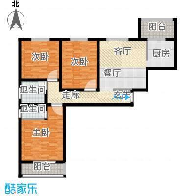 美意苑小区123平方米 三室两厅一卫户型3室2厅1卫