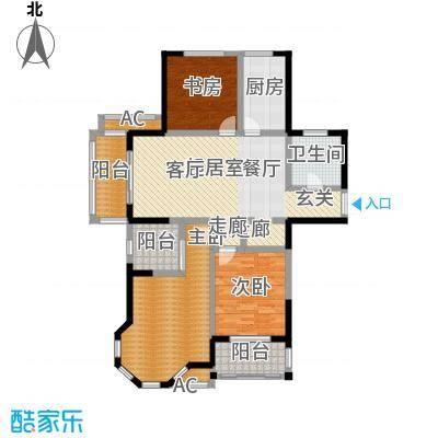美林湖・水岸枫情133.00㎡C3户型3室2厅2卫