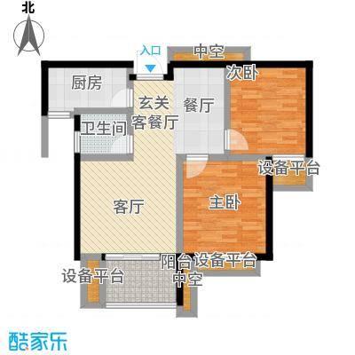 碧城云庭户型2室1厅1卫1厨