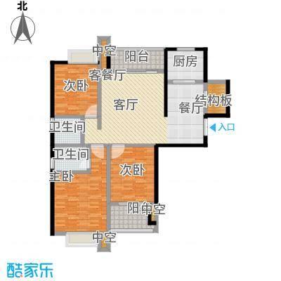 碧城云庭户型3室1厅2卫1厨