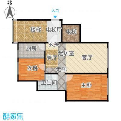 北京城建・世华龙樾85.00㎡F户型2室2厅1卫