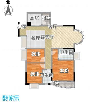 香港街二期113.46㎡户型3室1厅2卫1厨