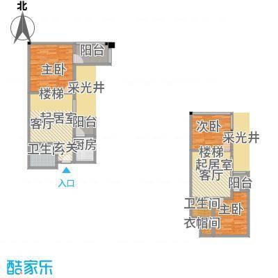 帝都广场・东方曼哈顿108.58㎡房型: 三房; 面积段: 108.58 -121.54 平方米;户型