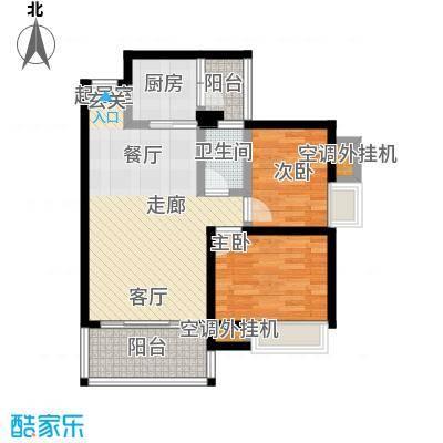 神州华府二期79.14㎡14、15、16栋78、79平米两房户型2室2厅1卫