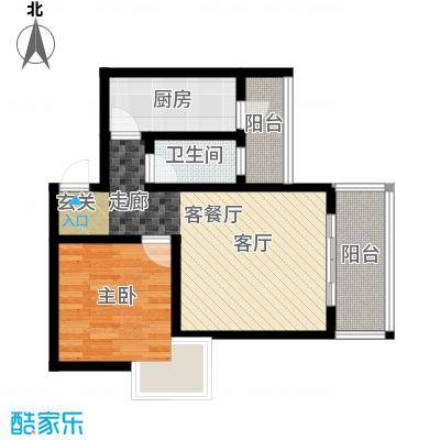 假日滨江花园(二期)57.77㎡房型: 一房; 面积段: 57.77 -57.77 平方米;户型
