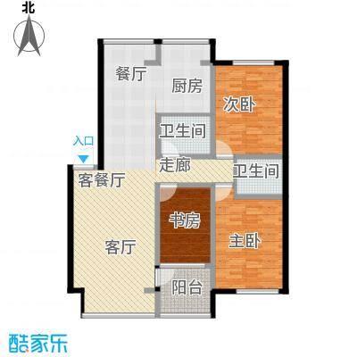 嘉业紫荆花3室2厅2卫1厨145.00㎡户型3室2厅2卫