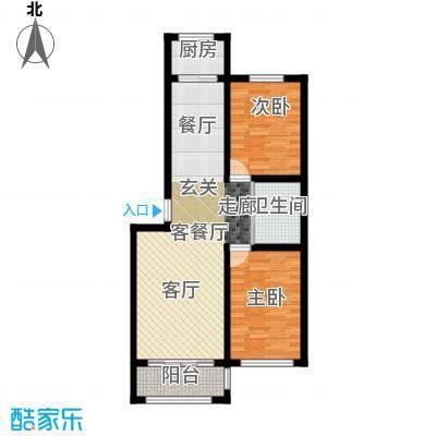 九新雾凇水岸84.71㎡九新雾凇水岸两室两厅一卫约84.71-85.44平米户型图户型2室2厅1卫