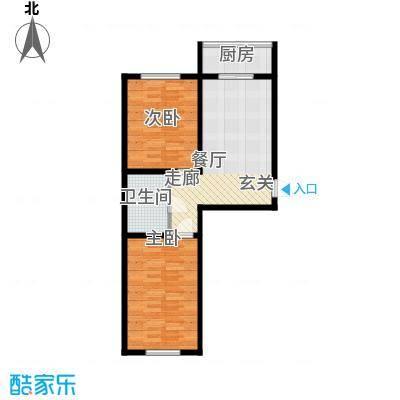 朝阳新苑D户型68平户型