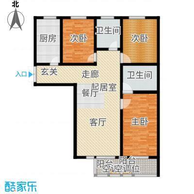 左岸枫桥三室两厅两卫 146.6平米户型