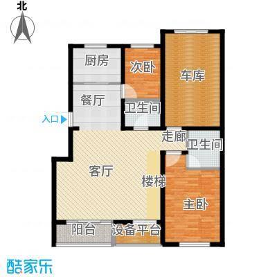 盈胜毓园盈胜毓园花园跃层一层两室一厅两卫237㎡户型图户型2室1厅2卫