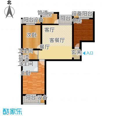 丽水苑137.90㎡中单元户型3室2厅2卫