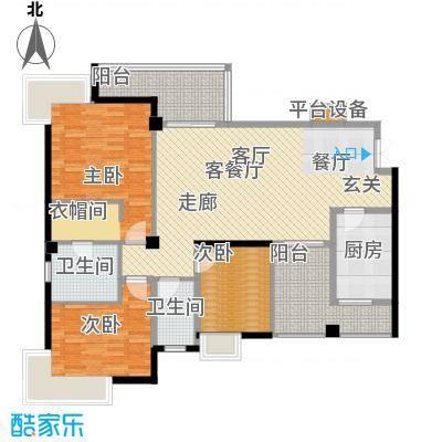 半山蓝湾128.00㎡半山蓝湾户型3室1厅2卫