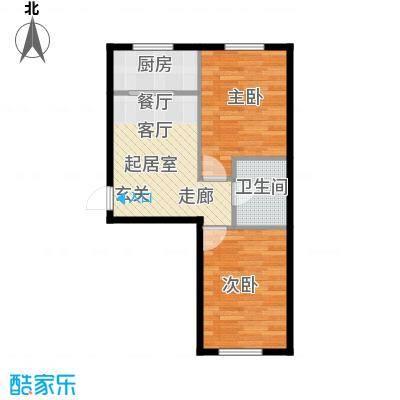 西山国际城(尚品嘉园)48.90㎡户型2室1厅1卫