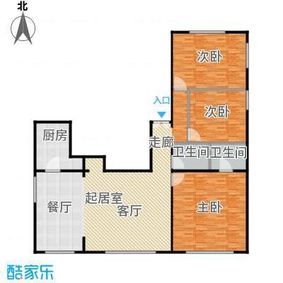 铂晶豪庭179.93㎡P户型3室2卫1厨