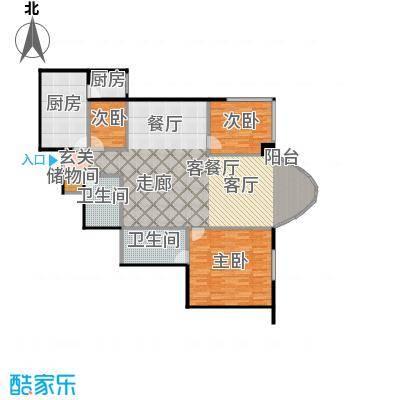 鹏润家园159.24㎡C反户型3室1厅2卫2厨