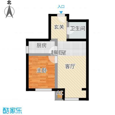 丰台大红门油毡厂地块44.92㎡3a户型一室两厅一卫户型1室2厅1卫