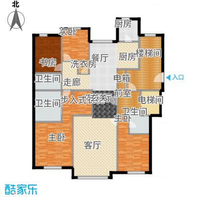 华润・润西山A2户型4室1厅3卫1厨