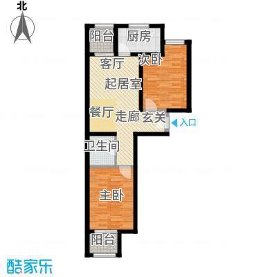珠光逸景家园(限价房)75.00㎡E/E\'户型2室2厅1卫