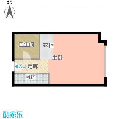 绿地启航社52.00㎡A户型1室1卫