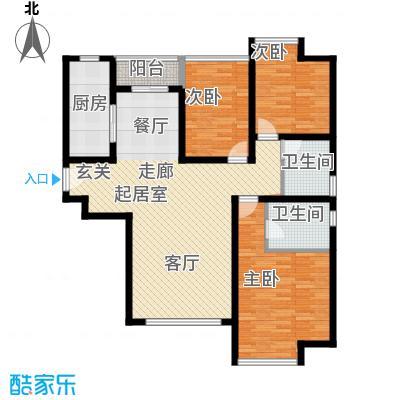 合生・滨江帝景111.81㎡户型3室2卫1厨