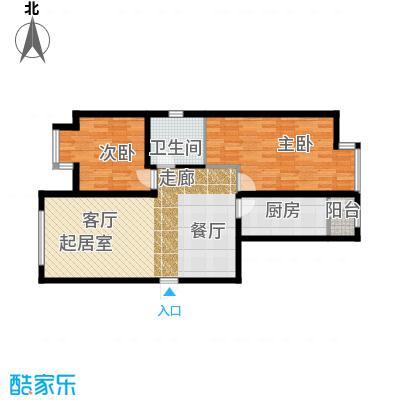 华业东方玫瑰91.00㎡c10户型2室1卫1厨