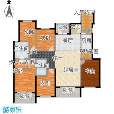 金融街・金色漫香苑188.00㎡户型5室2卫1厨