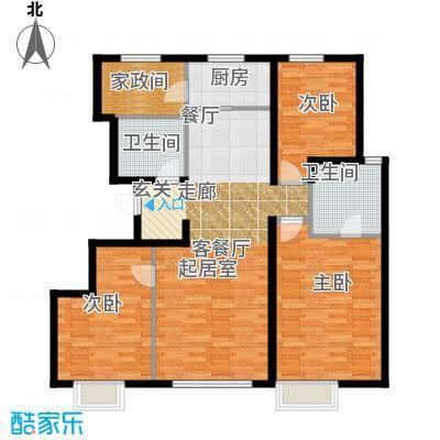 华远・澜悦118.00㎡B反户型3室2厅2卫