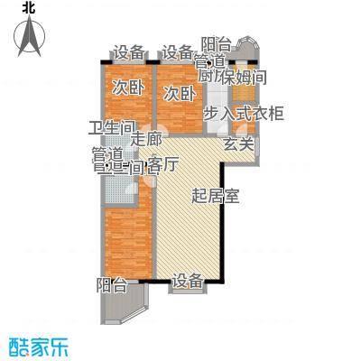 松园小区(宁馨园)三室一厅两卫户型