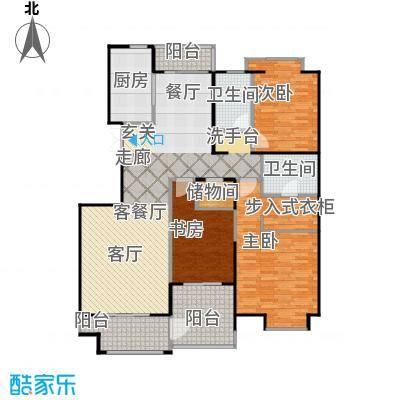 益田影人四季花园150.00㎡3C-S户型3室2厅2卫