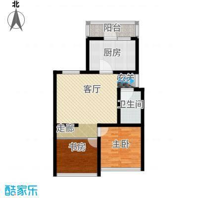 康庄住宅小区72.99㎡两室两厅一卫户型