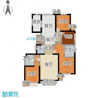 中冶・德贤公馆四室两厅三卫 约178㎡户型4室2厅3卫