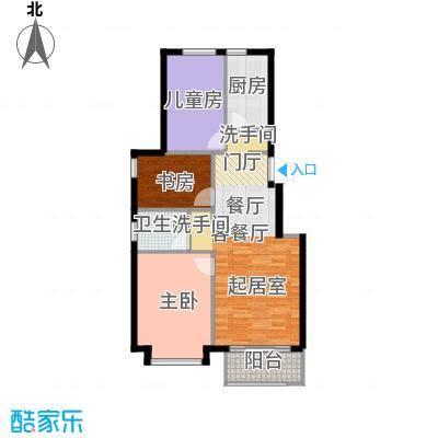 北京城建・海梓府82.87㎡F户型3室2厅1卫
