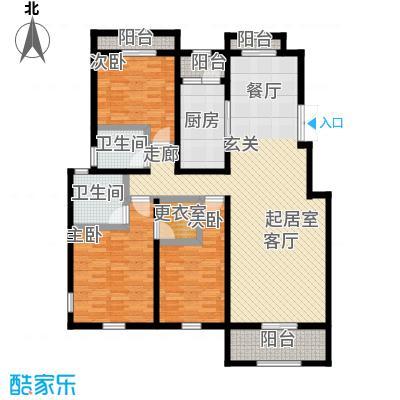 香邑溪谷137.00㎡B3户型三室两厅两卫户型3室2厅-T