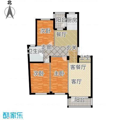 富士庄园三期126.94㎡三房二厅一卫户型