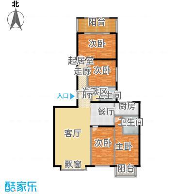 国电中兴嘉园192.00㎡四室两厅两卫户型