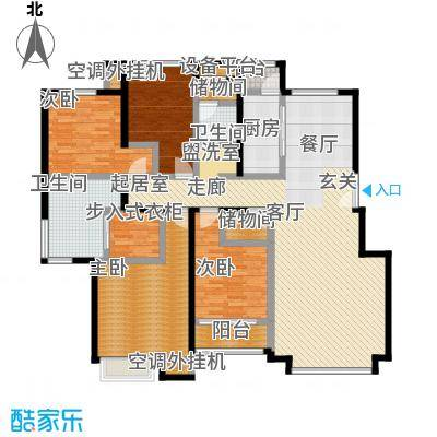 葛洲坝・紫郡府168.00㎡D户型 四室两厅两卫户型4室2厅2卫