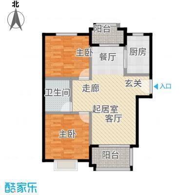 国瑞生态城雅仕苑82.57㎡C户型2室1卫1厨