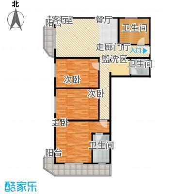 亚运豪庭141.52㎡三室一厅二卫户型