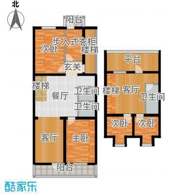 新明胡同住宅166.96㎡四室三厅两卫户型
