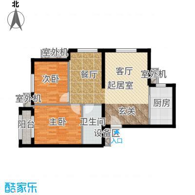 朱辛庄限价房C(1-1)户型2室1卫1厨